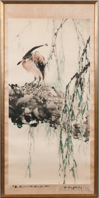 Painting Depicting a Heron, China (Lot 501, Estimate $800-1,200)