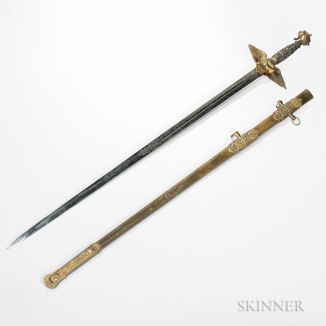 Brigadier General Kenner Garrard's Presentation Sword from the 146th New York Volunteer Infantry Regiment After Gettysburg, c. 1863 (Lot 34, Estimate $8,000-10,000