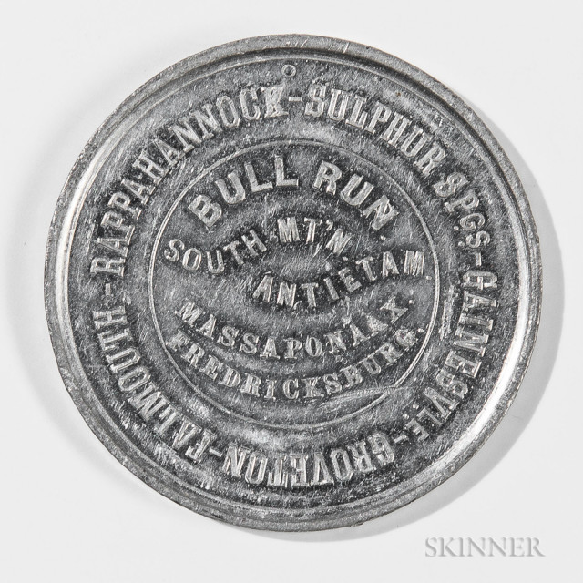 Non-drilled 30th New York 'Death To Traitors' Medal, c. mid to late 19th century (Lot 1177, Estimate $150-250)