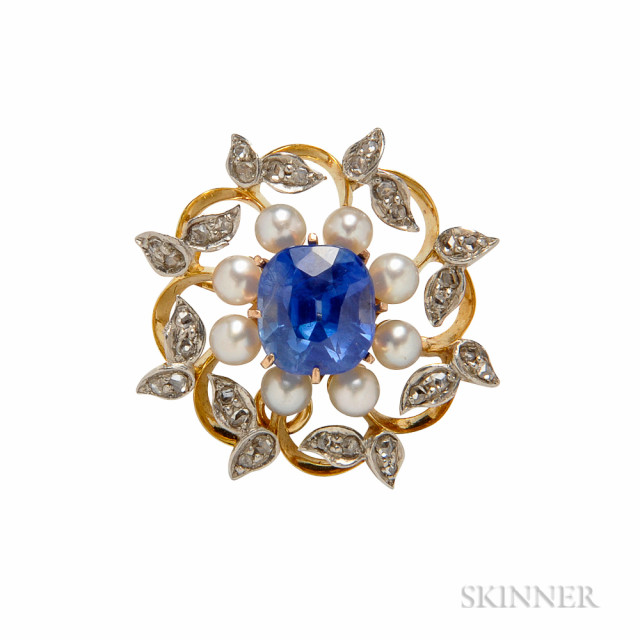 Antique Sapphire Pendant/Brooch (Lot 366, Estimate $25,000-35,000)