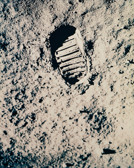 The footprint on the Moon, Apollo 11, July 1969 (Estimate $800-1,200)