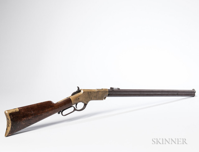 1st DC Cavalry Henry Rifle Captured by Confederate General Wade Hampton During the Beefsteak Raid and Given to His Adjutant, Major Henry B. McClellan, Lee Letter, and Image of McClellan, c. 1864 (Lot 262, Estimate $150,000-200,000)