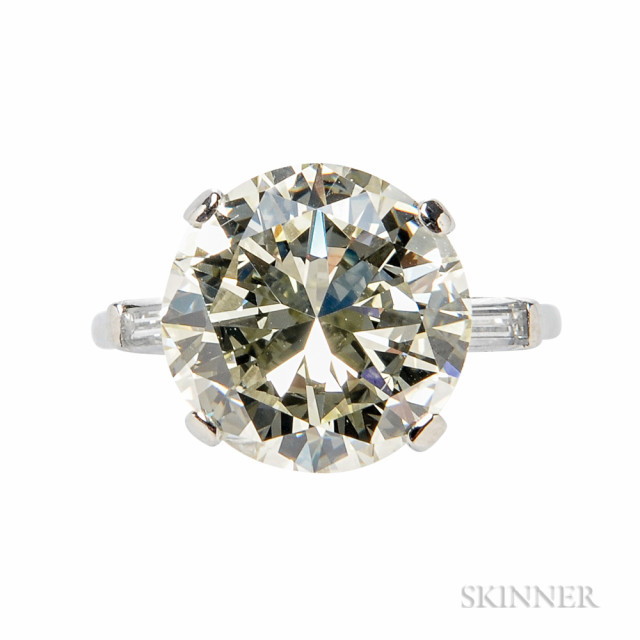 Platinum and Diamond Solitaire (Lot 320, Estimate $35,000-55,000)
