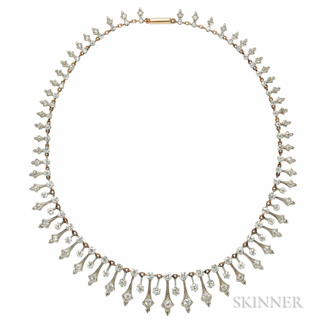 Antique Diamond Necklace, c. 1890s (Lot 380, Estimate $5,000-7,000)