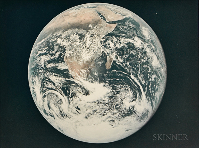 The 'Blue Marble', Apollo 17, December 1972 (Estimate $1,000-1,500)
