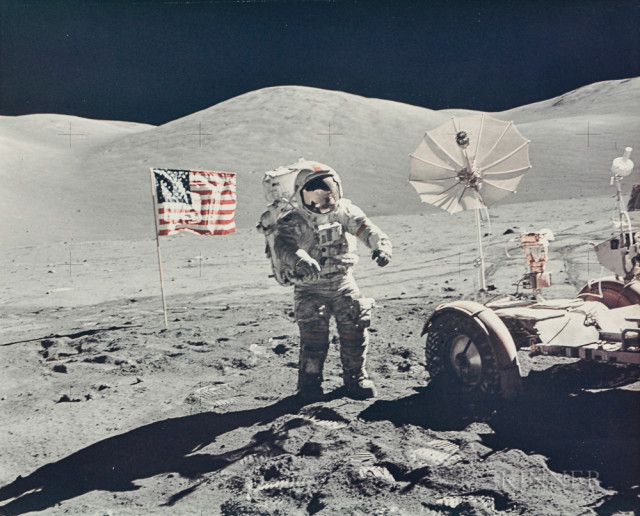 Portrait of astronaut Eugene Cernan, explorer of another world, EVA 3, Apollo 17, December 1972 (Estimate $3,000-5,000)