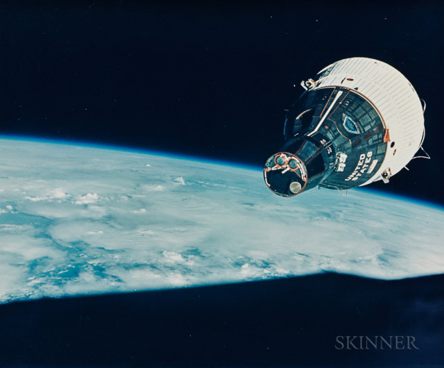 Gemini 7 spacecraft orbits the Earth, Gemini 6, December 1965 (Estimate $1,500-2,500)