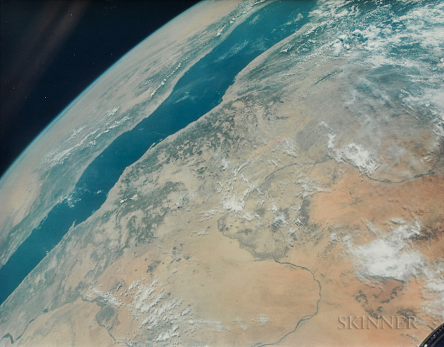 The Nile River and the Red Sea from Space, Gemini 11, September 1966 (Estimate $800-1,200)