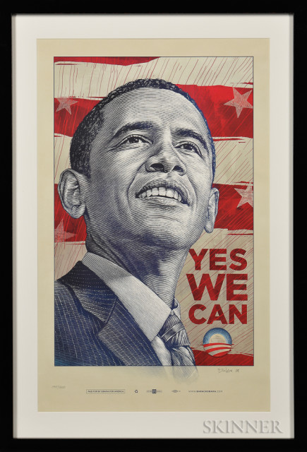 """2008 Barack Obama Presidential Campaign """"Yes We Can"""" Poster (Lot 300)"""