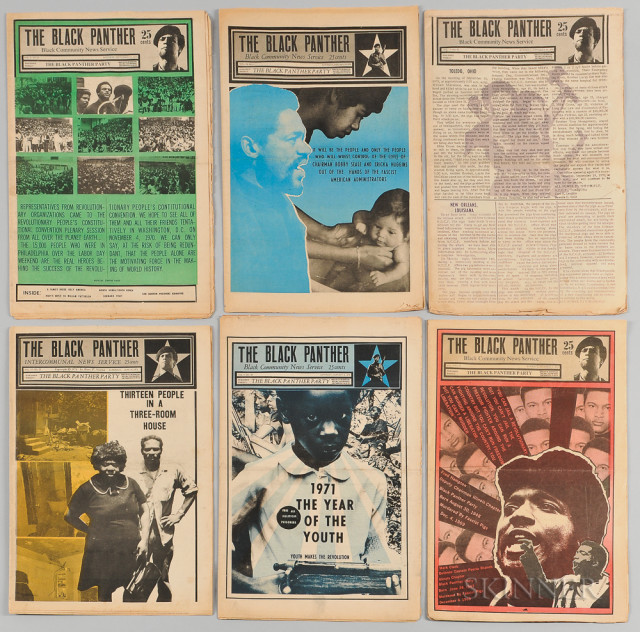 The Black Panther: Black Community News Service, thirteen issues (Lot 258)