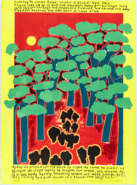 Faith Ringgold Under a Blood Red Sky (Lot 1112)