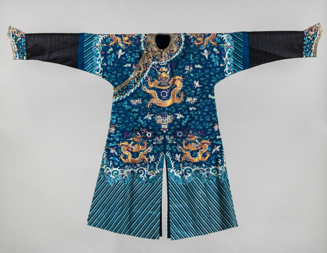 Embroidered Semiformal Robe, China, 19th/20th century, (Lot 218, Estimate: $7,000-9,000)