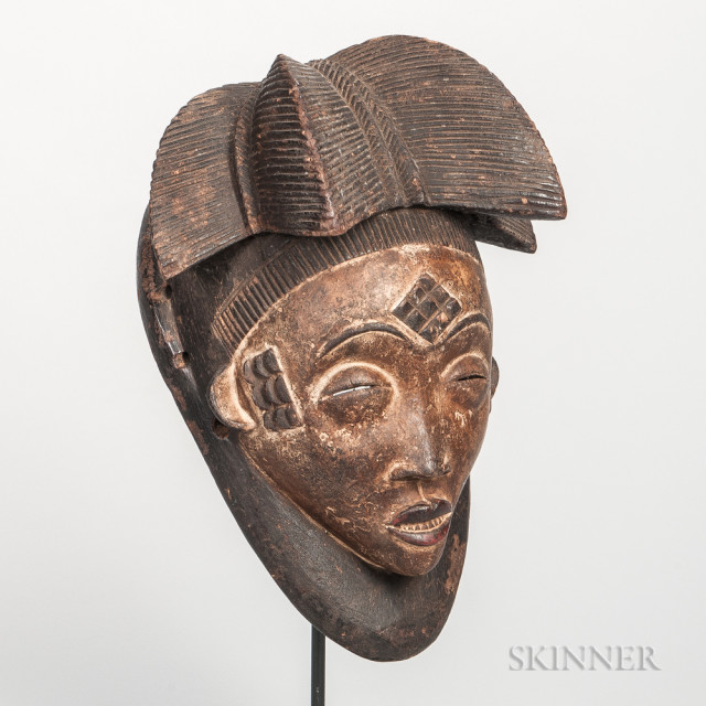 Pende-style Carved Wood Mask (Lot 1505, Estimate: $20-200)