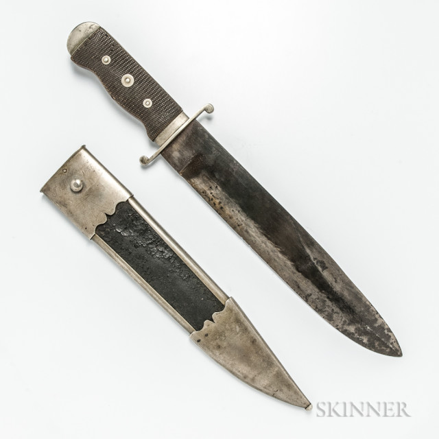 Schively Bowie Knife with Statesman Henry Clay and Davy Crockett Provenance (Lot 17, Estimate: $20,000-40,000)