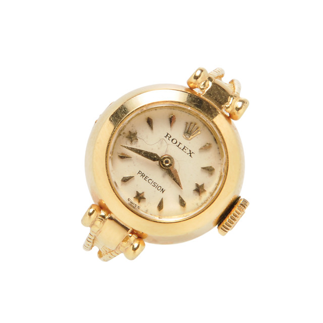 18kt Gold Ring Watch, Rolex (Lot 1312, Estimate: $800-1,200)