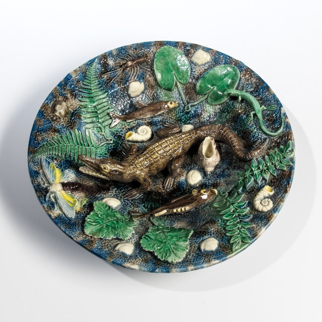 Large Francois Maurice Palissy Ware Charger (Lot 1483, Estimate: $1,000-1,500)