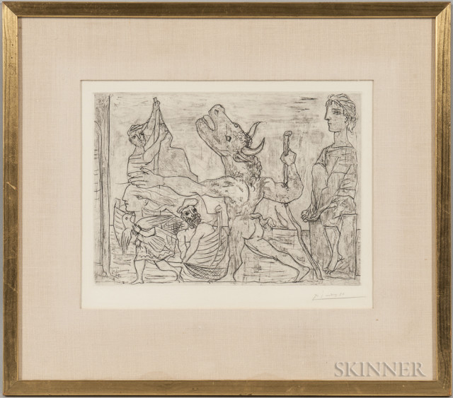 Pablo Picasso (Spanish, 1881-1973) Artwork (Lot 152, Estimate: $2,500-3,500)