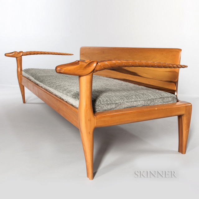 Judy Kensley McKie Studio Furniture Antelope Sofa (Lot 170, Estimate: $12,000-18,000)