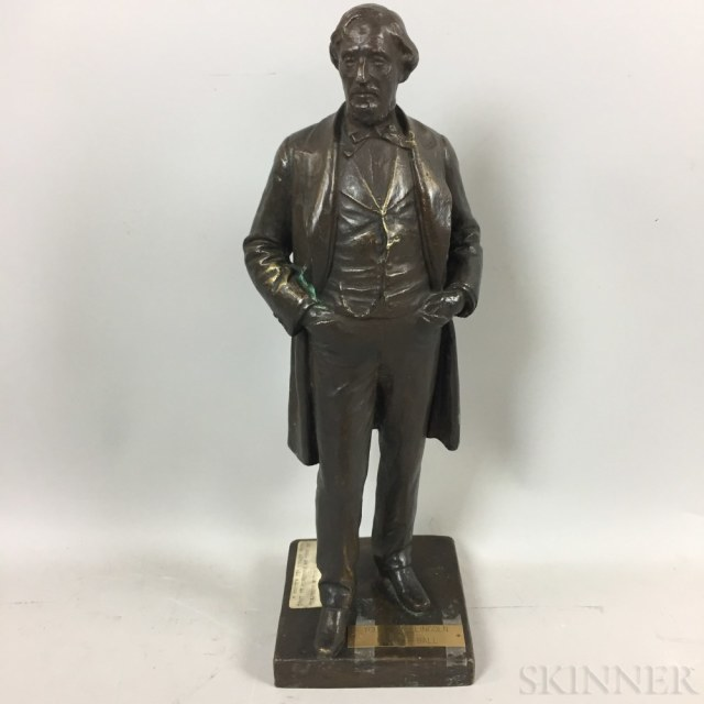 Attributed to Thomas Ball (American, 1819-1911) Standing Figure, Thought to be Young Abraham Lincoln (Lot 1235, Estimate: $700-900)