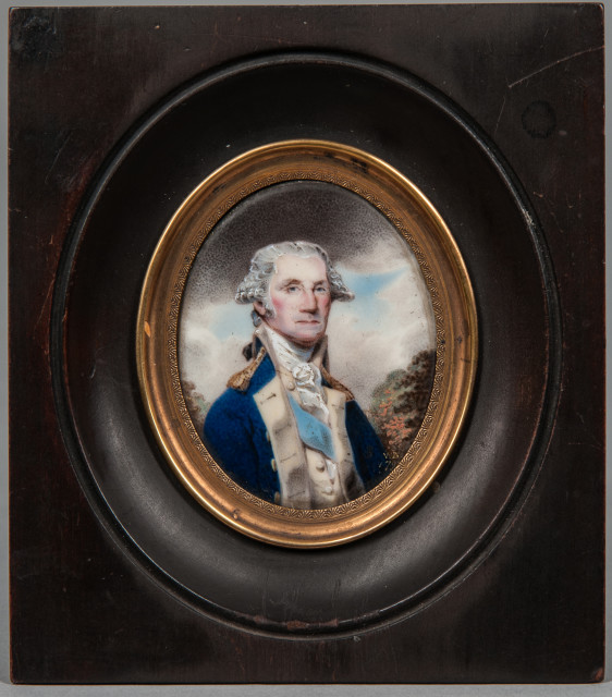 William Russell Birch (Pennsylvania/England, 1755-1834) Portrait Miniature of General George Washington (Lot 231, Estimate: $15,000-25,000)