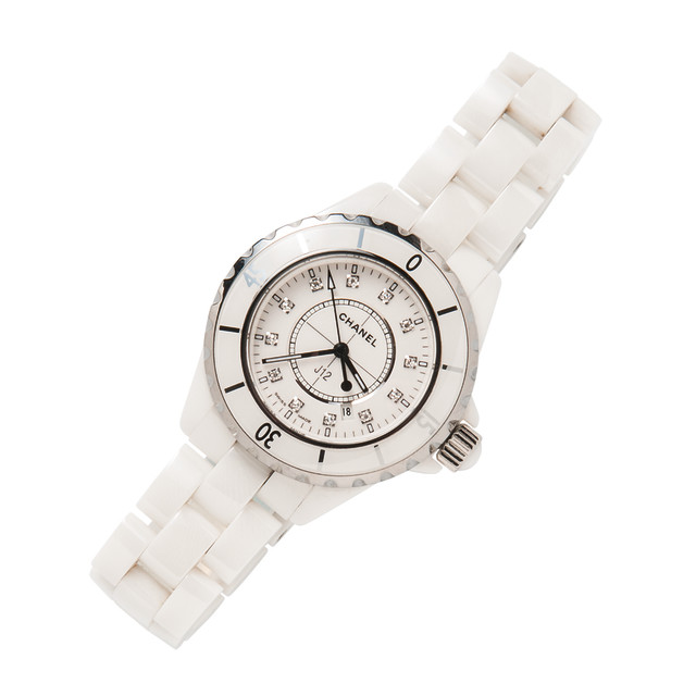 Ceramic and Stainless Steel J12 Wristwatch, Chanel (Lot 1085, Estimate: $1,500-2,000)