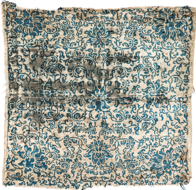 Chinese Silk Rug Fragment, 17th century or earlier (Lot 153, Estimate: $2,000-3,000)