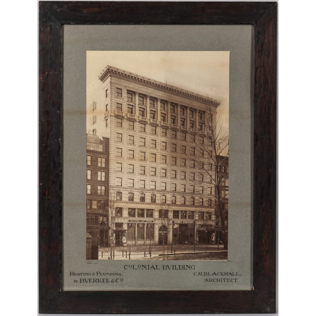 Two Vintage Large Format Images of Boston, including a photograph depicting the Colonial Building on Boylston Street (Lot 1088, Estimate $100-150)