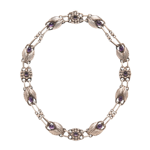 Sterling Silver and Amethyst Necklace and Brooch, Georg Jensen (Lot 1052, Estimate: $1,000-1,500)