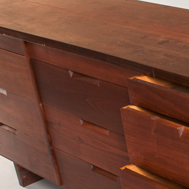 George Nakashima (1905-1990) Walnut Triple Chest of Drawers (Estimate: $8,000-12,000)