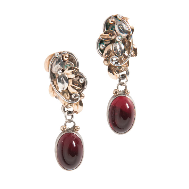 Arts and Crafts, Silver, Gold, and Glass Earrings, Hazel French (Lot 1046, Estimate: $800-1,200)