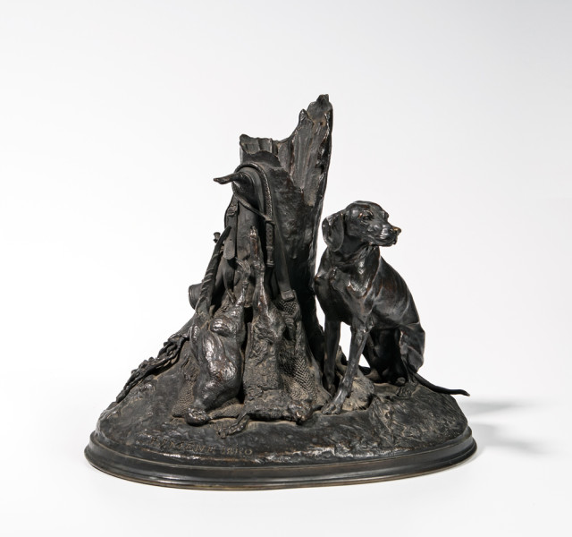 Bronze Figure of a Pointer Guarding Game by a Tree Stump After Pierre-Jules Mêne (French, 1810-1879), (Lot 296, Estimate: $1,500-3,000)