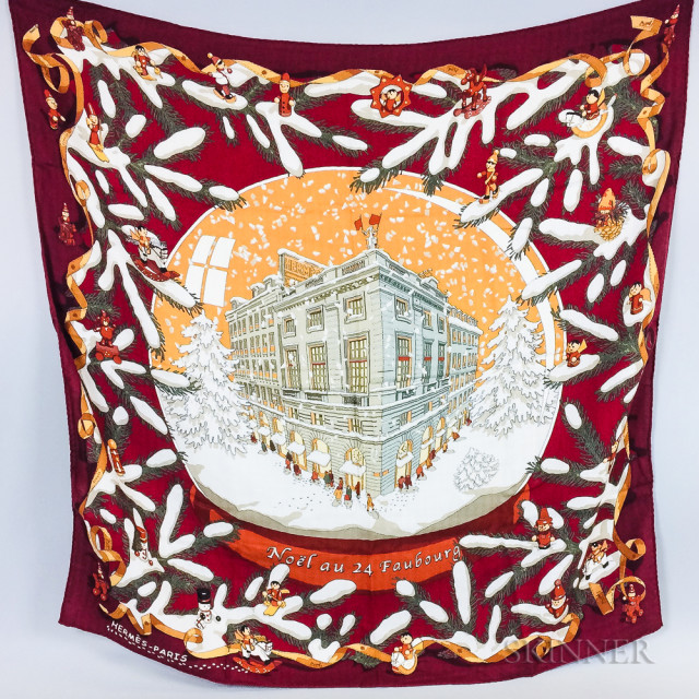 Two Hermes Cashmere Scarves (Lot 2471, Estimate: $200-300)