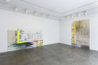 "Installation view of ""Up w/ Briquette"""