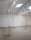 """installation views: """"Chain of Triangles"""" works"""
