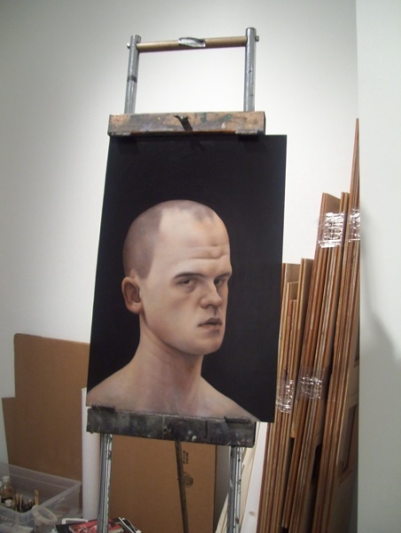 "Matthew Miller ""Self Portrait,"" 2008 oil on canvas"